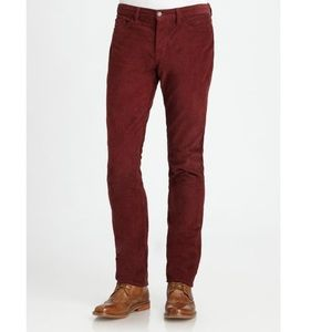 VINCE Men's Corduroy Five Pocket Pant Straight Red